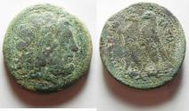 Ancient Coins - GREEK. Ptolemaic Kings. Ptolemy II Philadelphos (285-246 BC). AE drachm (42mm, 71.69g).