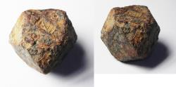 Ancient Coins - ISLAMIC. Period of the Umayyad Caliphate (AD 661-750). Iron polyhedral 20 dirham weight (54.96g).