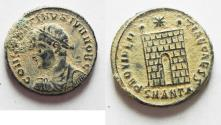 Ancient Coins - AS FOUND. CONSTANTINE II AE 3 . ORIGINAL DESERT PATINA