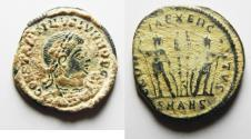 Ancient Coins - CHOICE CONSTANTINE II AE 3 . AS FOUND