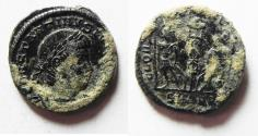 Ancient Coins - CHOICE AS FOUND CONSTANTINE AE 3 . NICE SHINY PATINA