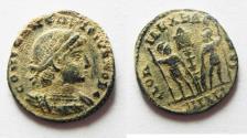 Ancient Coins - ORIGINAL DESERT PATINA: CONSTANTINE II AE 4. ALEXANDRIA