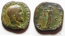 Ancient Coins - Pupienus, Sestertius c. April-July AD 238