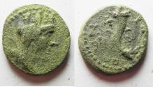 Ancient Coins - Decapolis , Gadara 40-39 BC. AE 19MM . 4.35GM