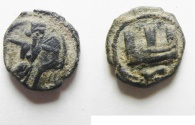 Ancient Coins - EXCEPTIONAL QUALITY: GREEK. Phoenicia. Sidon under Abd Eshmun (c.410 - 400 BC). AR 1/16 shekel (10mm, 0.78g).