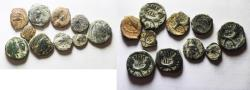 Ancient Coins - LOT OF 10 NABATAEAN BRONZE COINS