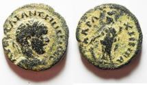Ancient Coins - ORIGINAL DESERT PATINA: Arabia. Charachmoba under Elagabalus (AD 218-222). AE 22