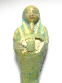 Ancient Coins - EGYPTIAN , ANCIENT FAIENCE USHABTI , 600 - 300 B.C - SHABTI , NICE SHARP COLOUR