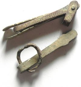 Ancient Coins - BYZANTINE , LOT OF 2 NICE TOOLS (TWEEZERS) , BRONZE , ANCIENT SWISS KNIFE!!!!!