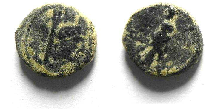 Ancient Coins - PHOENICIA, TYRE, 1st cent B.C , AE 12