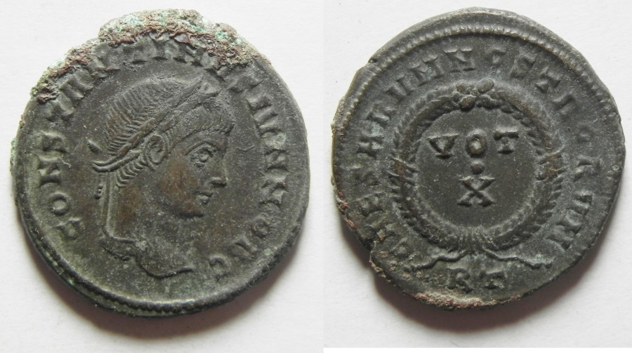 Ancient Coins - CONSTANTINE II AE 3 , ROME MINT