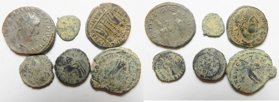 Ancient Coins - LOT OF 6 ROMAN BRONZE COINS