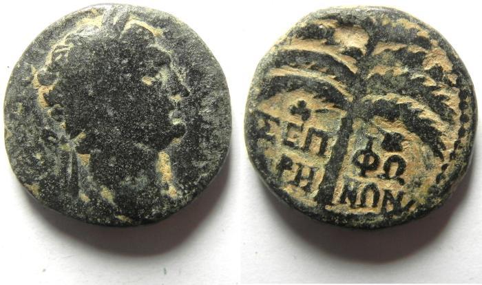 Ancient Coins - JUDAEA , SEPPHORIS , TRAJAN AE 22
