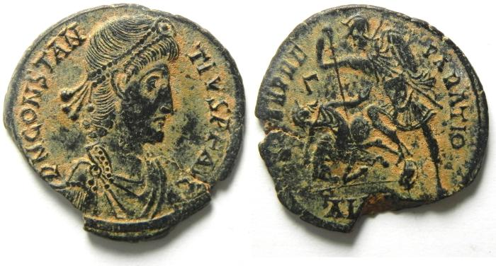 Ancient Coins - CONSTANTIUS II AE 2 , VERY NICE COIN , ALEXANDRIA MINT