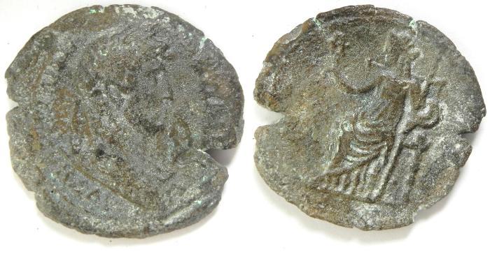 Ancient Coins - EGYPT , ALEXANDRIA , HADRIAN AE HEMIDRACHM