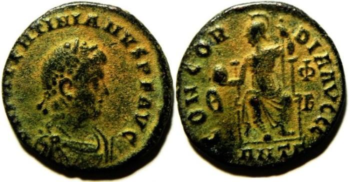 Ancient Coins - CHOICE VALENTINIAN AE 3