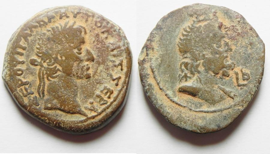 Ancient Coins - Egypt. Alexandria under Galba (AD 68-69). AE diobol (25mm, 10.83). Struck in regnal year 2 (AD 68/9).