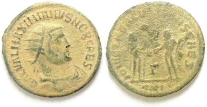 Ancient Coins - MAXIMIAN , AS FOUND ANTONINIANUS , NICE QUALITY