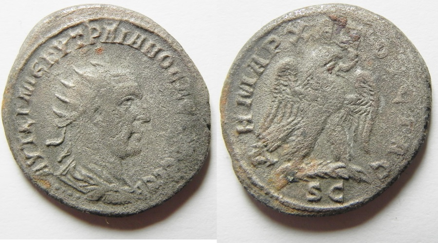 Ancient Coins - Syria, Seleucis and Pieria. Antiochia ad Orontem. Trajan Decius. A.D. 249-251 Billon Tetradrachm