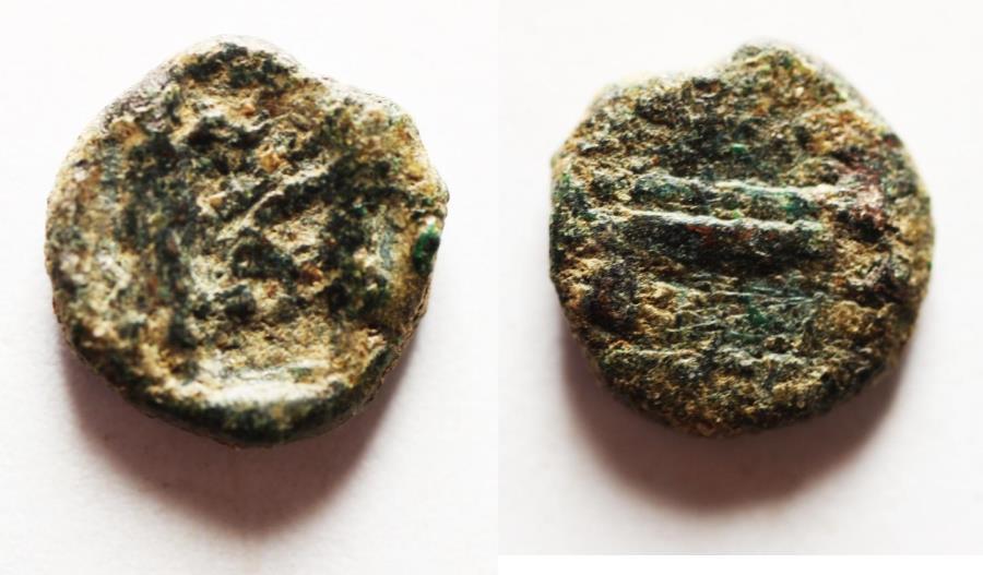 Ancient Coins - PHOENICIA, Sidon. Ba`alšillem (Sakton) II. Circa 401-365 BC. AR Sixteenth Shekel