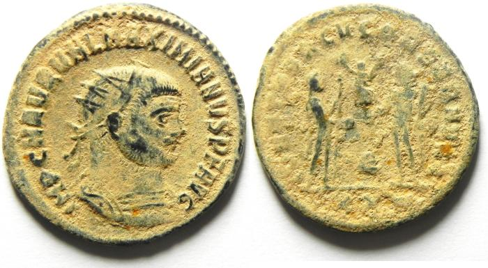 Ancient Coins - MAXIMIAN AE ANTONINIANUS , AS FOUND NICE