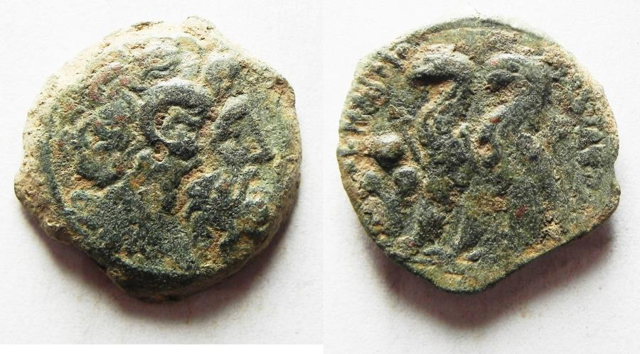 Ancient Coins - PTOLEMAIC KINGS of EGYPT. Ptolemy VI Philometor. Second reign, 163-145 BC. Æ 21