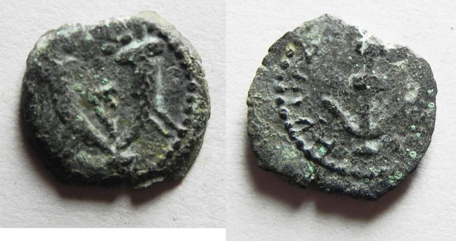 Ancient Coins - Judaea, Herod the Great, 37 - 4 B.C. AE prutah