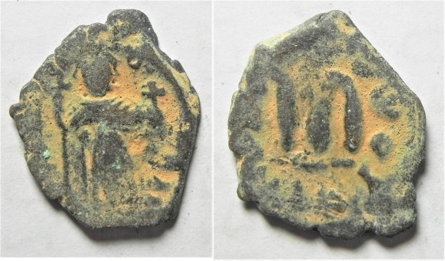 World Coins - ARAB-BYZANTINE AE FILS