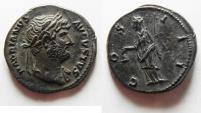 Ancient Coins - BEAUTIFUL AS FOUND HADRIAN SILVER DENARIUS