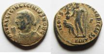 Ancient Coins - AS FOUND. LICINIUS II AE 3 . NICE!