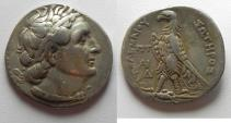 Ancient Coins - Egypt. Ptolemaic kings. Ptolemy II Philadelphos (285-246 BC). AR tetradrachm (27mm, 13.96g). Uncertain Cypriot mint.