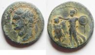 NICE JUDAEA CAPTA UNDER DOMITIAN AE 22