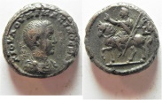 Ancient Coins - UNPUBLISHED MULE: Egypt. Alexandria under Maximus Caesar (AD 235-238). Billon tetradrachm (22mm, 14.81g).