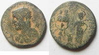 Ancient Coins - Samaria. Neapolis under Trebonianus Gallus (251-253 CE). AE 24mm