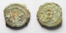 Ancient Coins - JUDAEA. HERODIAN DYMASTY. HEROD I THE GREAT AE PRUTAH