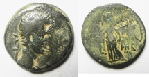 Ancient Coins - EGYPT. ALEXANDRIA UNDER AUGUSTUS (27 BC-AD 14). AE DIOBOL . STRUCK IN REGNAL YEAR 43 (AD 12/13).