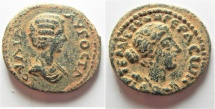 Ancient Coins - UNPUBLISHED COIN FROM GERASA: Decapolis. Gerasa under Julia Domna (Augusta, AD 193-211). AE 24mm, 8.91g.
