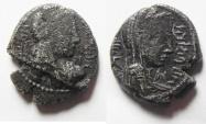 Ancient Coins - Arabia. Nabataean kingdom. Aretas IV (9 BC-AD 40).  AR drachm (17mm, 4.47g). Petra mint.