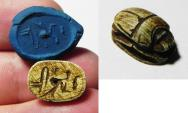 Ancient Coins - ANCIENT EGYPT , NEW KINGDOM STONE SCARAB. 1550 - 1070 B.C