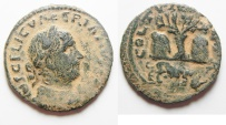 Ancient Coins - Phoenicia. Tyre under Valerian I (AD 253-260). AE 27mm, 9.47g. Very Rare!