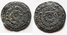 Ancient Coins - ISLAMIC . FATIMID. 1/2 SILVER DERHIM