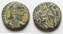 Ancient Coins - CONSTANTIUS II AE 3 AS FOUND