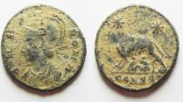 Ancient Coins - AS FOUND. CONSTANTINE I AE 3 . COMMEMORATIVE ISSUE