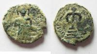 Ancient Coins - ARAB-BYZANTINE. AE FALS. AMMAN? MINT AS FOUND