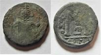 World Coins - ARAB-BYZANTINE AE FILS. DAMASCUS MINT