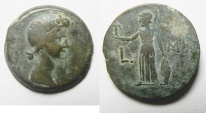 Ancient Coins - Egypt. Alexandria under Augustus. AE diobol (24mm, 9.08g). Struck in regnal year 41 (AD 11/12). Head of Livia