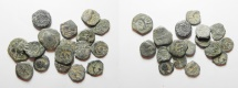 Ancient Coins - NABATAEAN AE COINS. LOT OF 17