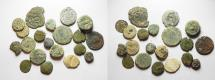 Ancient Coins - LOT OF 20 AS FOUND ANCIENTS FROM THE HOLY LAND.