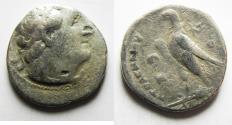 Ancient Coins - PTOLEMAIC KINGDOM. PTOLEMY II SILVER TETRADRACHM. AKKO MINT