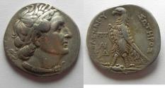 Ancient Coins - Egypt. Ptolemaic kings. Ptolemy II Philadelphos (285-246 BC). AR tetradrachm (27mm, 13.96g). Uncertain Cypriot mint.
